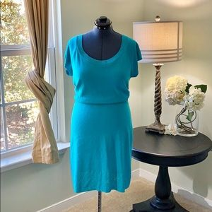 Ashley Stewart Teal Light Sweater Dress Size 2X